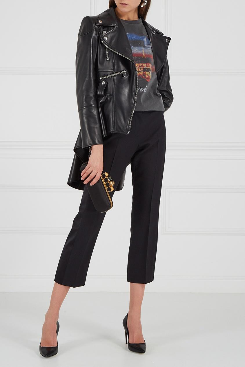 где купить Alexander McQueen Черные кожаные лодочки по лучшей цене