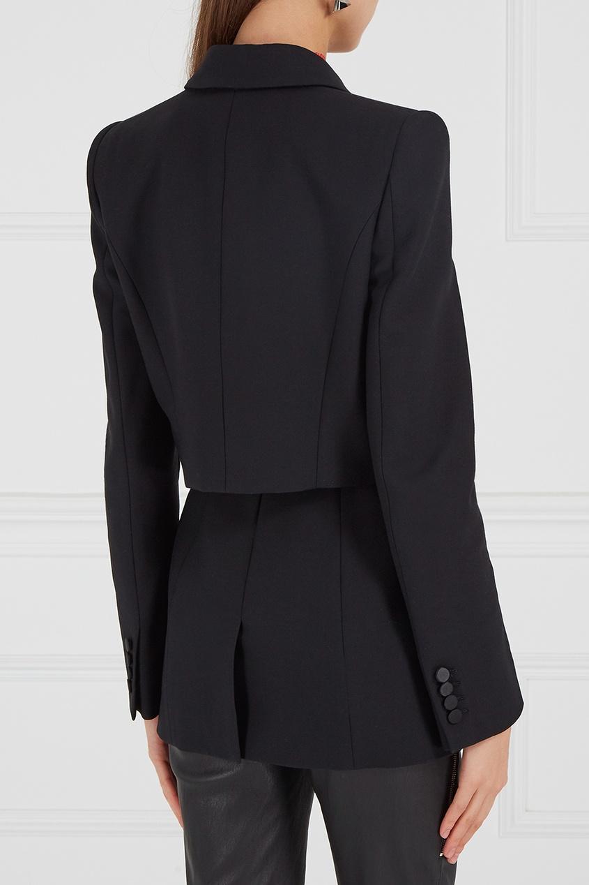 Alexander McQueen Шерстяной жакет с кружевом alexander mcqueen юбка из шелка с люрексом