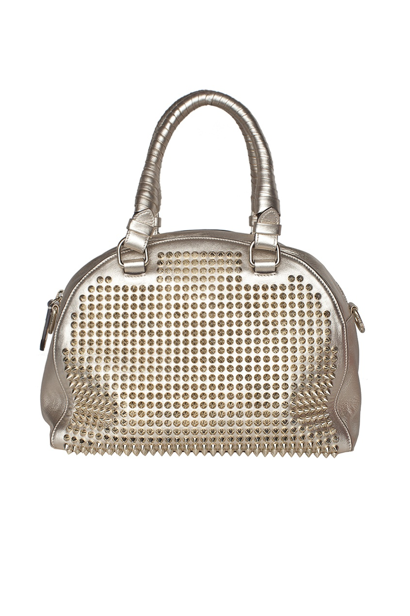 Кожаная сумка Panettone Small Nappa Laminato/Spikes