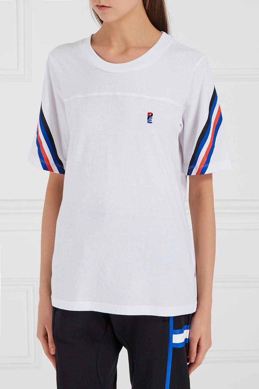 Хлопковая футболка с монограммой