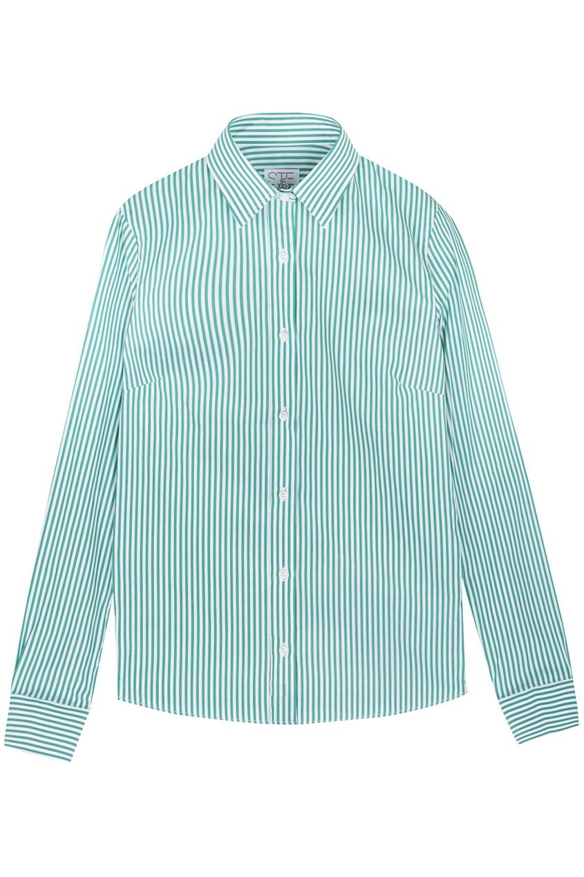 Рубашка-поло в полоску