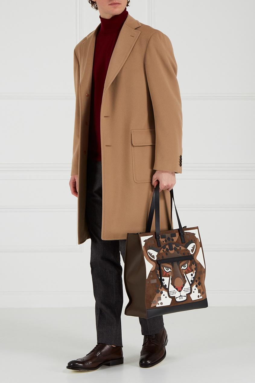 FURLA Коричневая кожаная сумка Man Ulisse коричневая кожаная сумка на плечевом