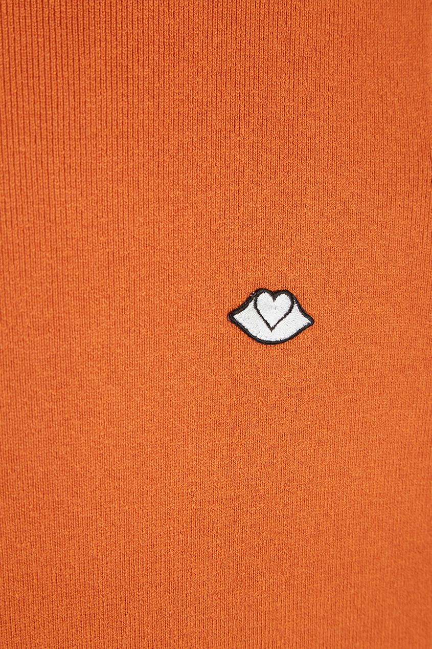 Оранжевая водолазка из хлопка и шерсти