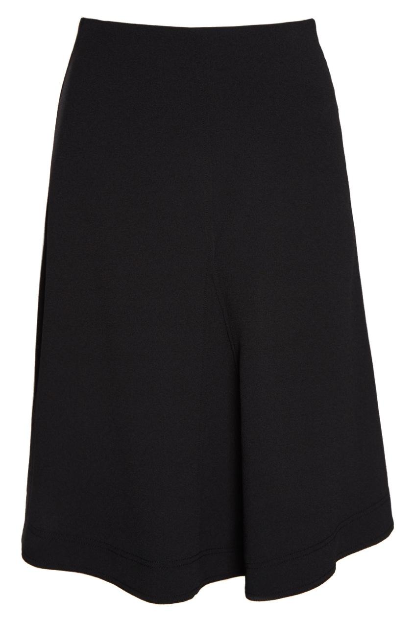 Купить со скидкой Черная юбка-колокол