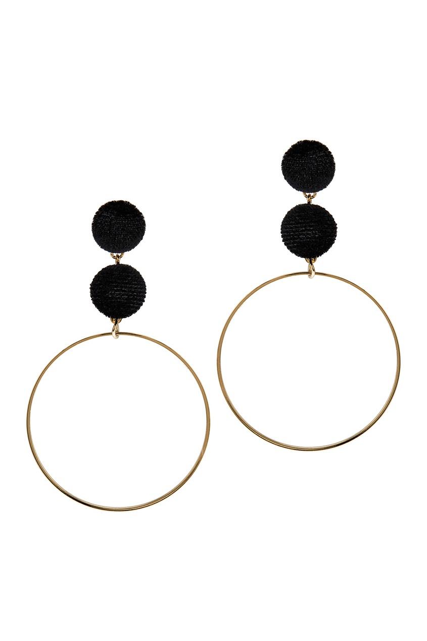 Lisa Smith Серьги-кольца с бархатом