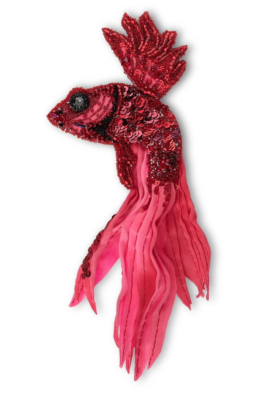 PLANKT.ON Брошь Рыба Вуалехвост олег ольхов рыба морепродукты на вашем столе