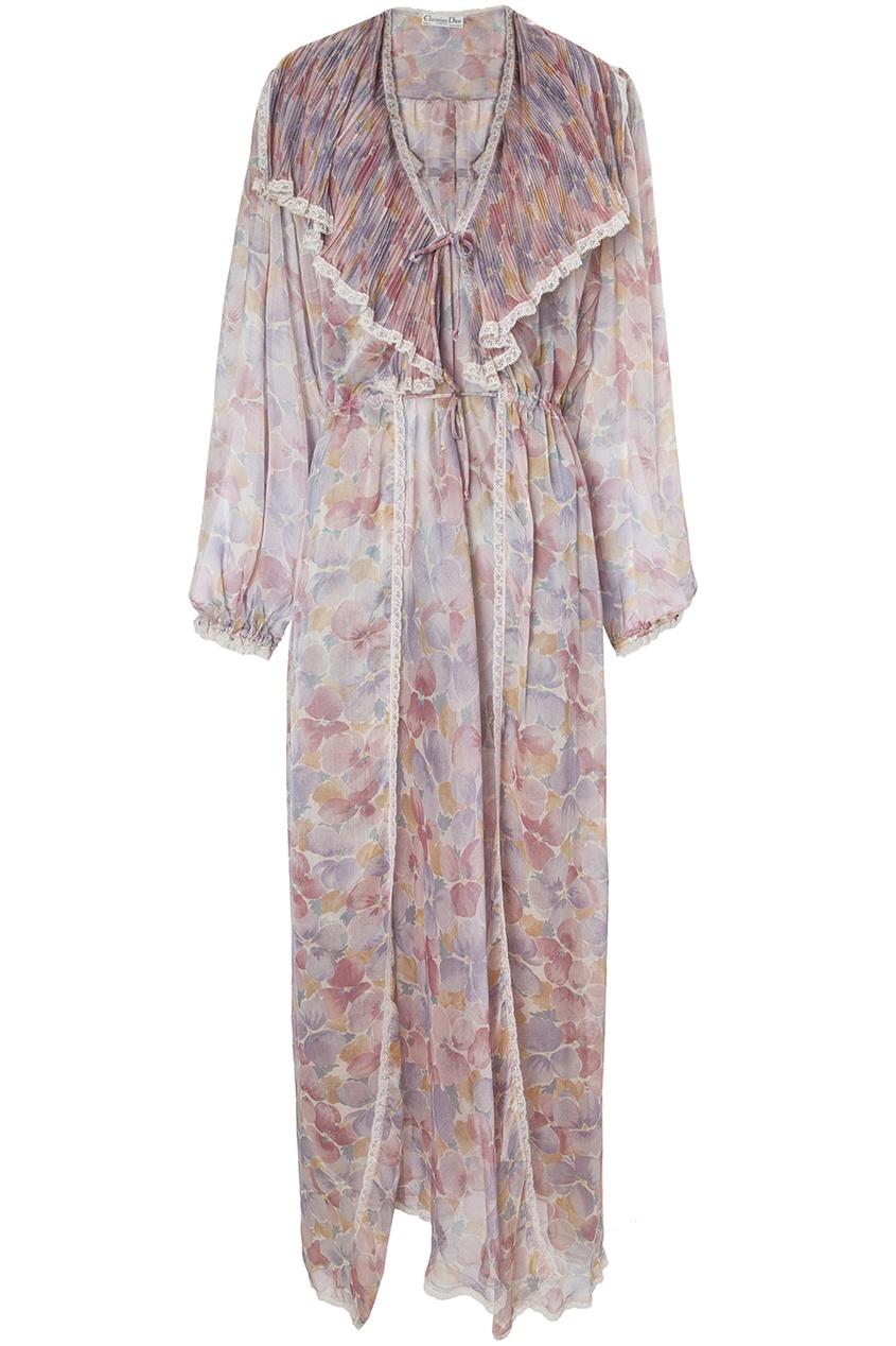 Christian Dior Vintage Пеньюар с цветочным принтом (70-е гг.) christian dior vintage винтажная брошь подвеска 80 е