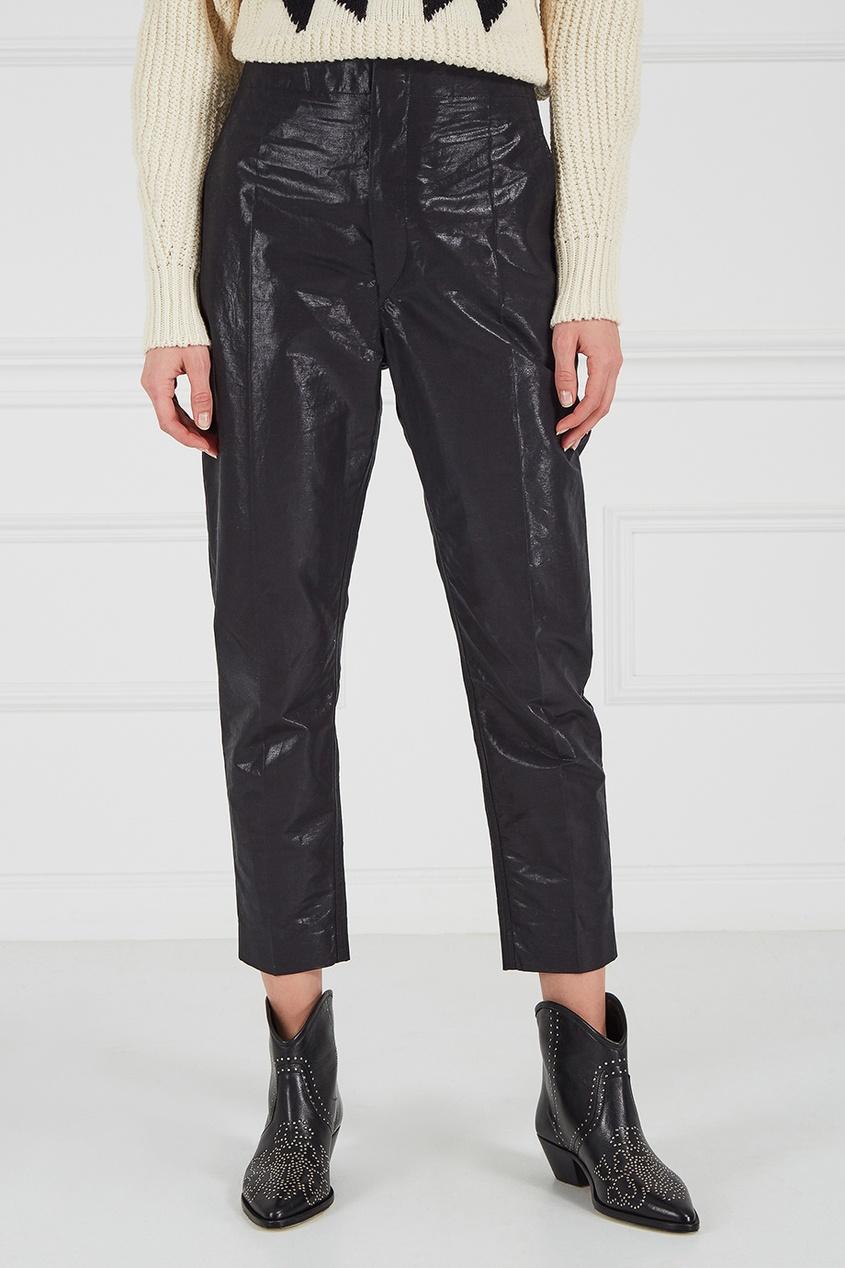 Isabel Marant Брюки из хлопка и льна брюки прямые из льна