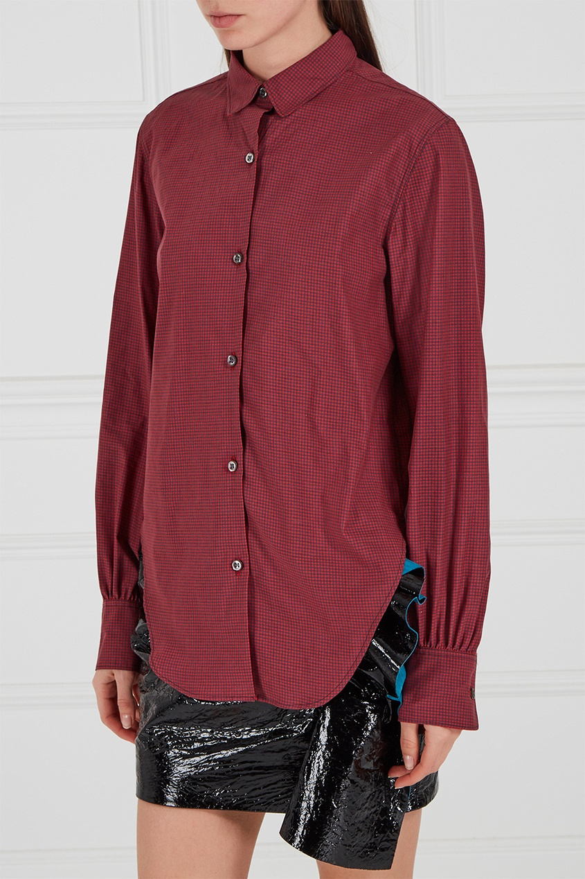 Isabel Marant Бордовая рубашка из хлопка