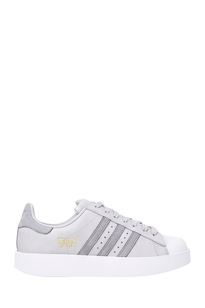 Adidas Серые кеды Superstar Bold W