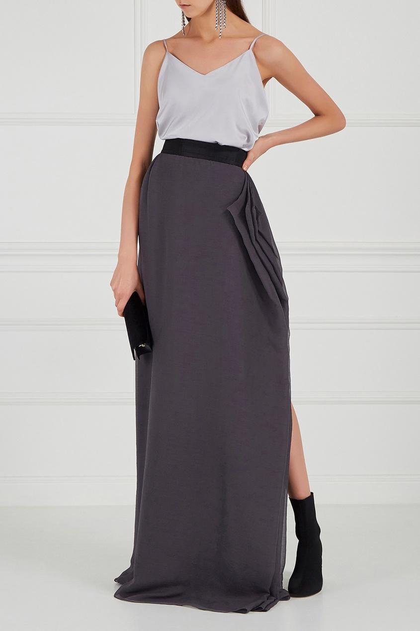Купить со скидкой Серая юбка-макси
