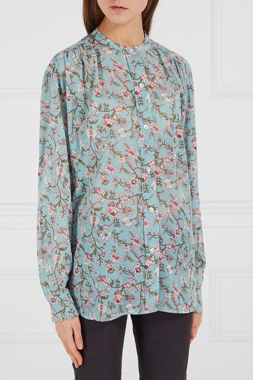 купить Isabel Marant Etoile Хлопковая блузка с принтом по цене 11300 рублей