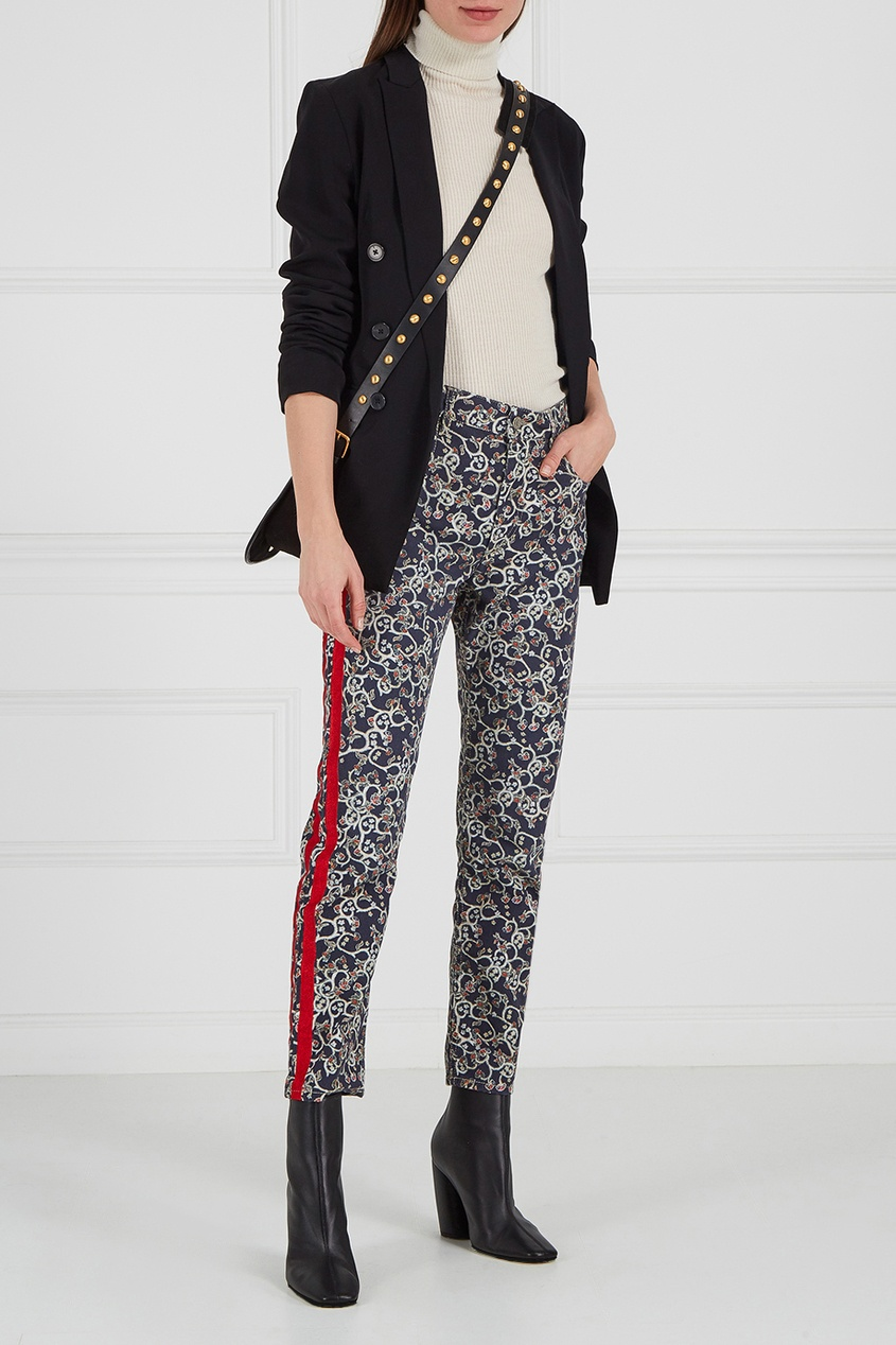 Узорчатые брюки с лампасами