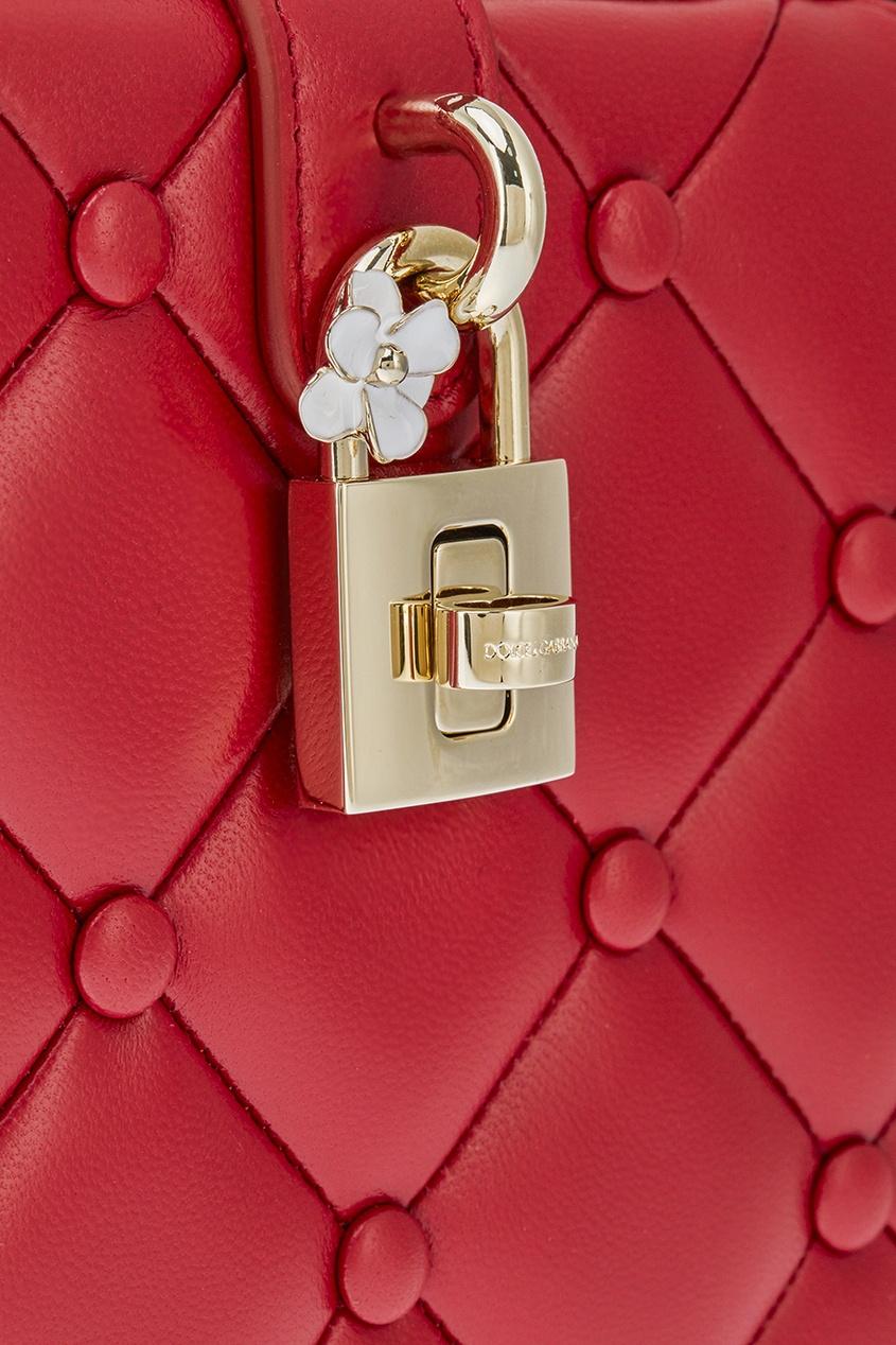 цена Dolce&Gabbana Красная сумка Dolce Box онлайн в 2017 году