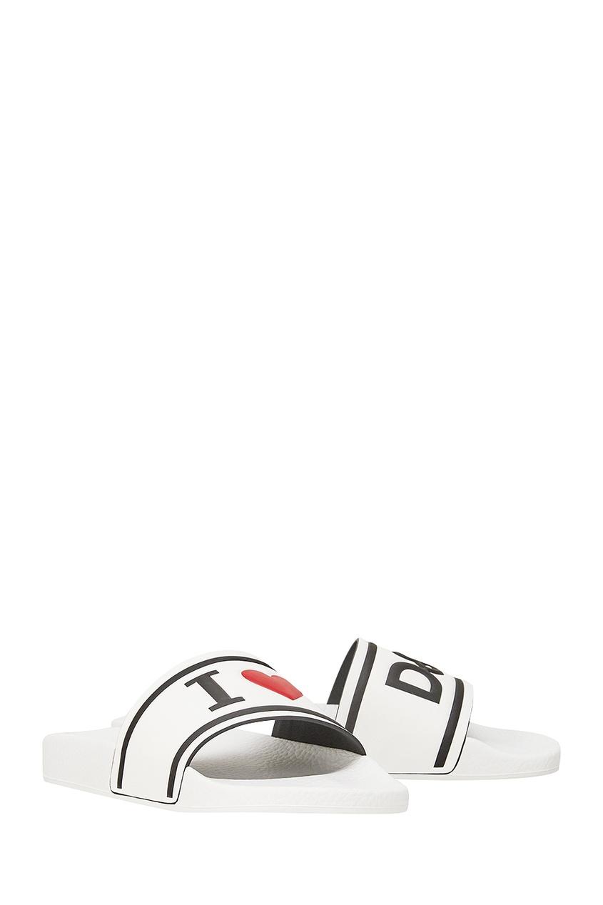 Кожаные сандалии с логотипом