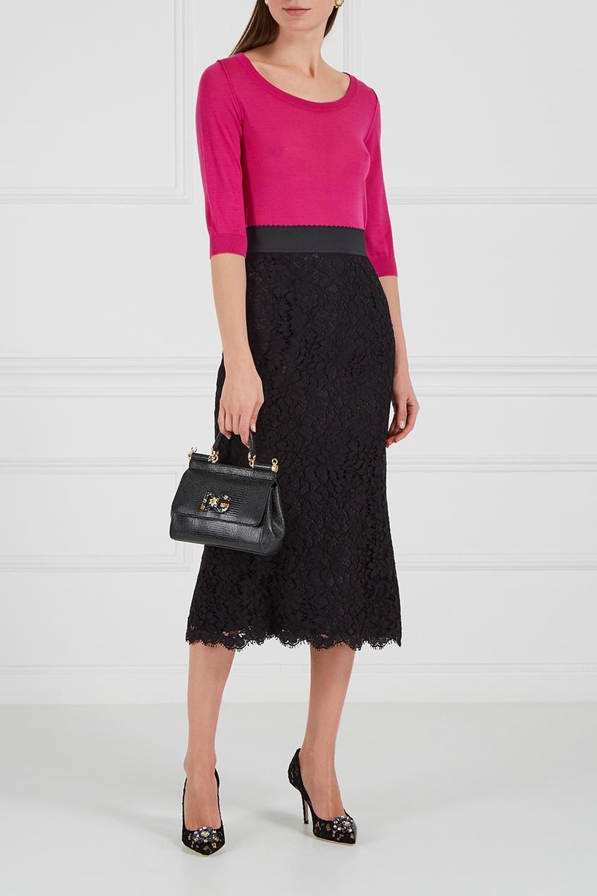 Dolce&Gabbana Черные кружевные туфли platinor platinor 50200 221