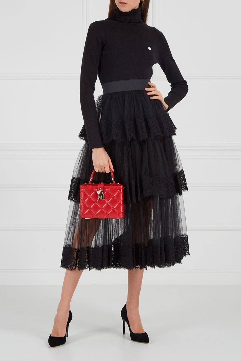 Многослойная юбка из сетки