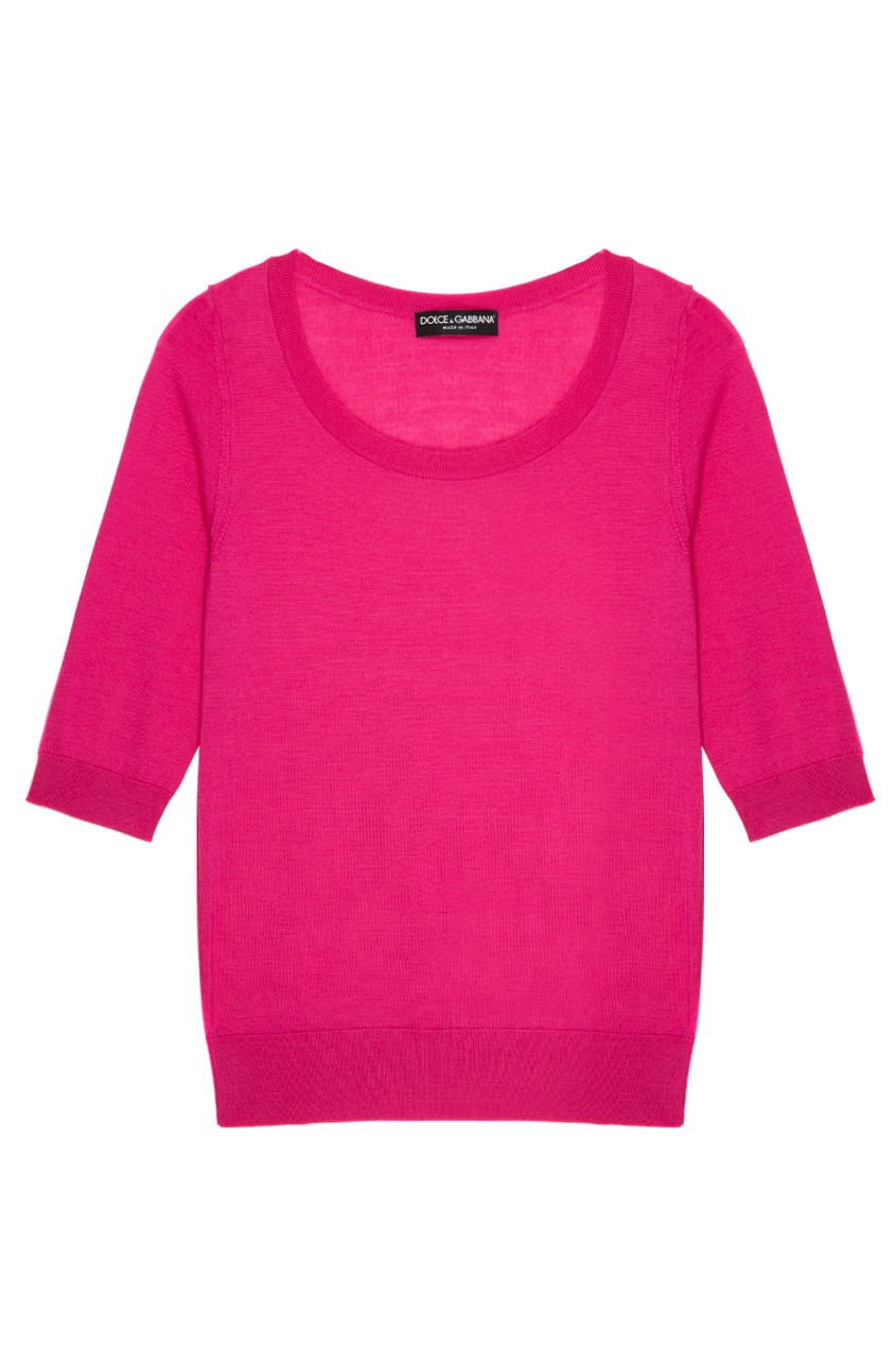 Розовый кашемировый джемпер
