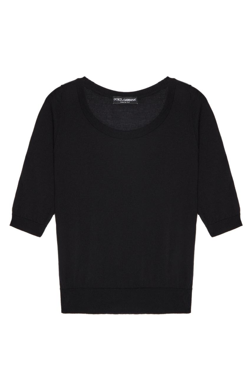 Dolce&Gabbana Черный кашемировый джемпер цена и фото