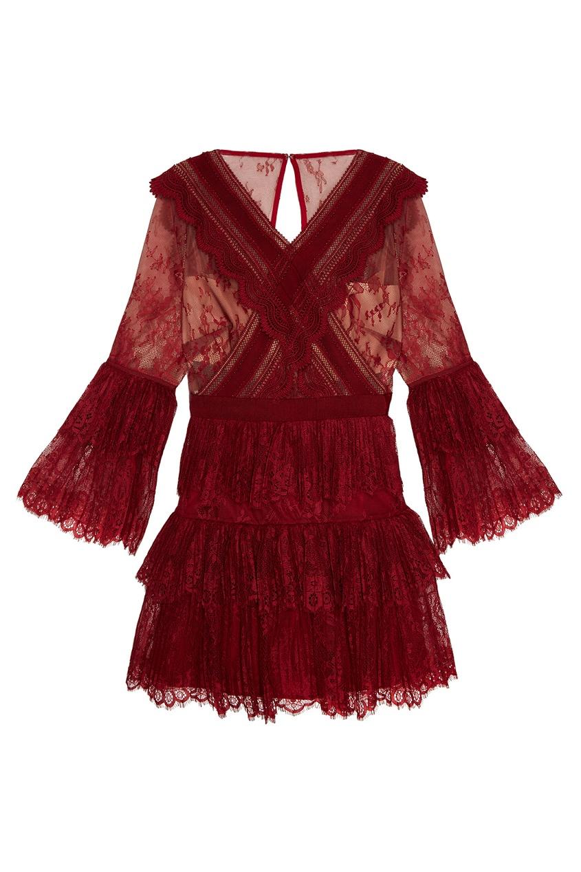 Платье с плиссированными воланами