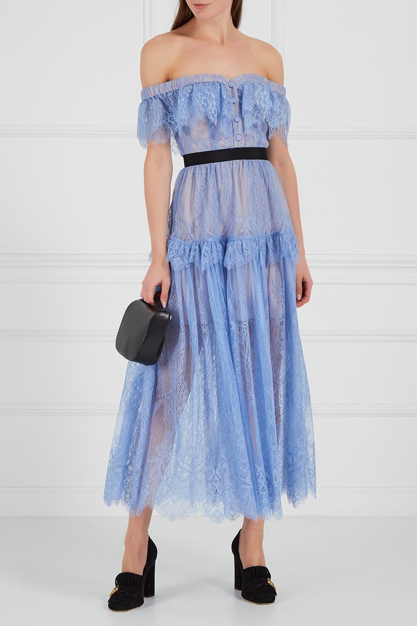 Кружевное платье-макси