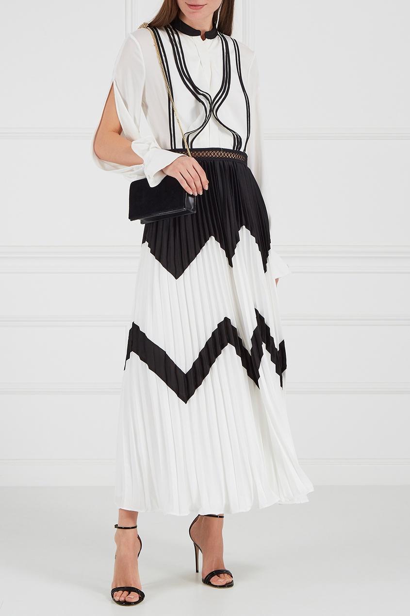 Платье-миди с плиссированным подолом