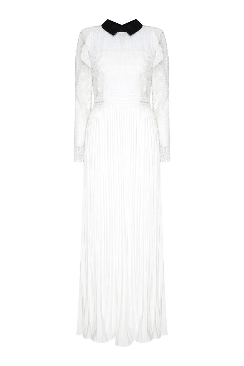 Купить со скидкой Платье-макси с кружевным верхом
