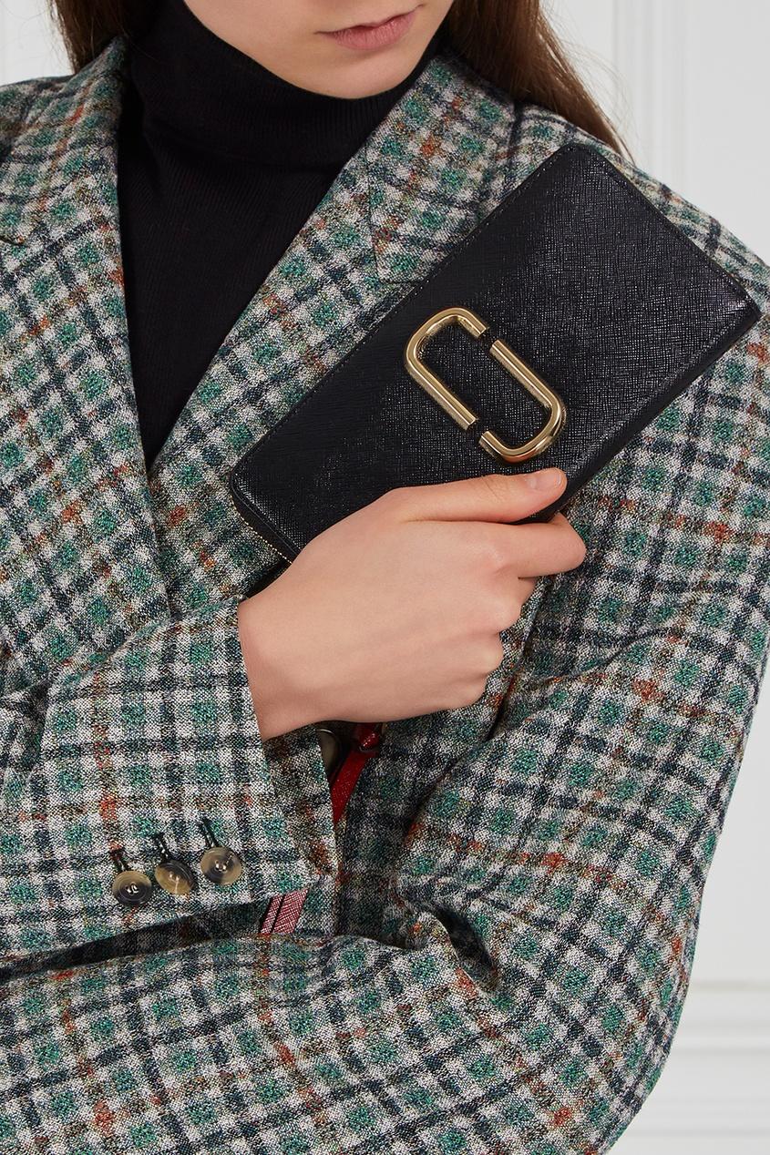 Marc Jacobs Черный кожаный кошелек Snapshot marc jacobs кожаный кошелек
