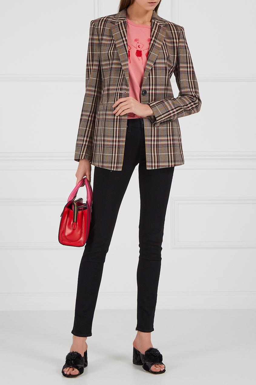 Marc Jacobs Розовая кожаная сумка Little Big Shot