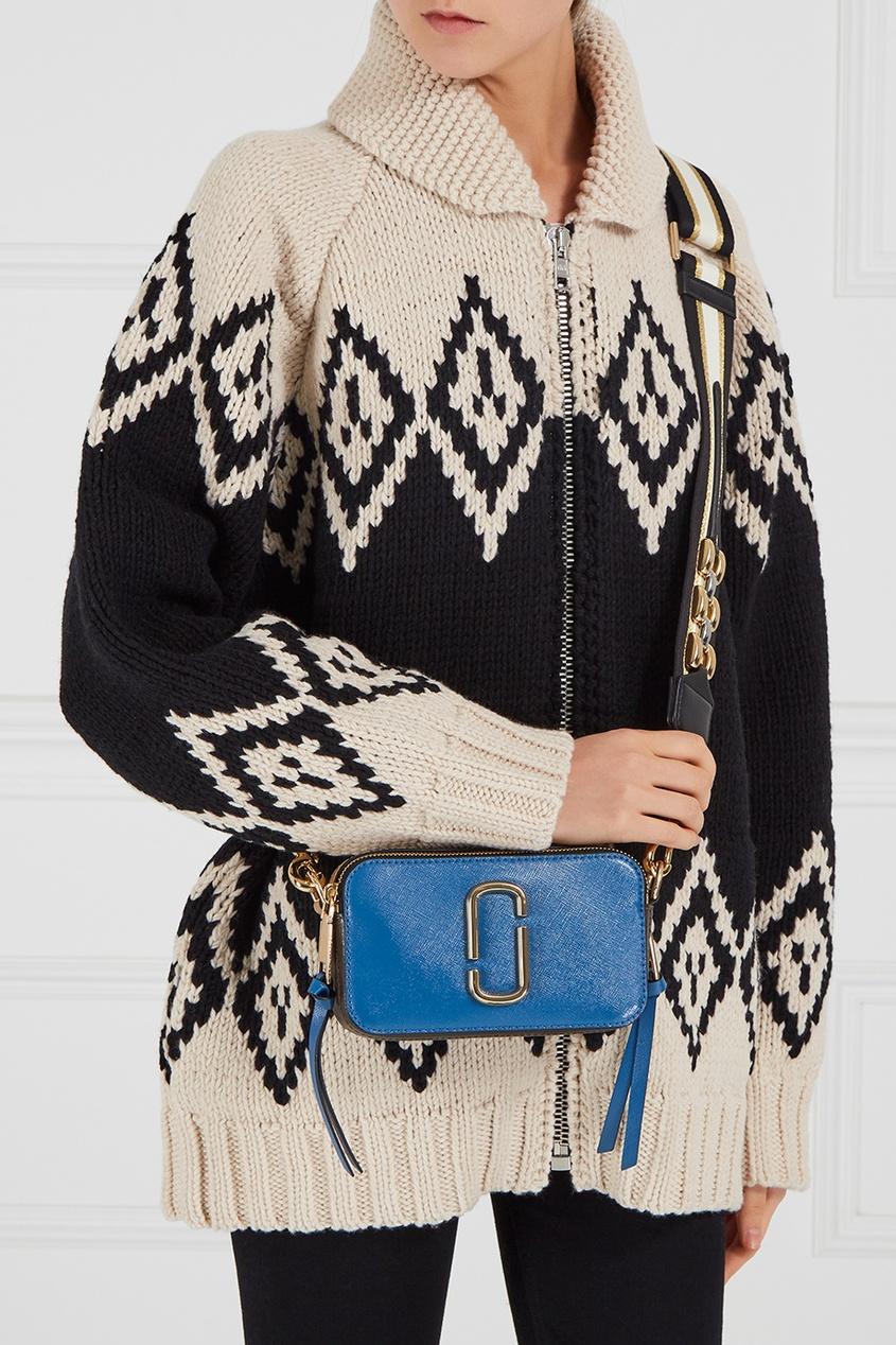 Marc Jacobs Синяя кожаная сумка Snapshot marc jacobs синяя стеганая косметичка