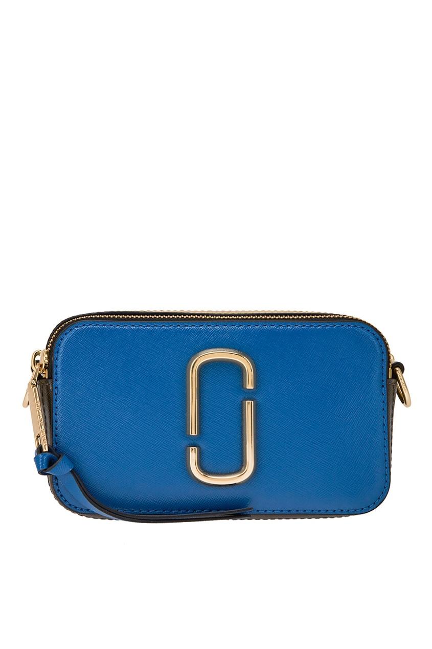 Marc Jacobs Синяя кожаная сумка Snapshot the snapshot снимок