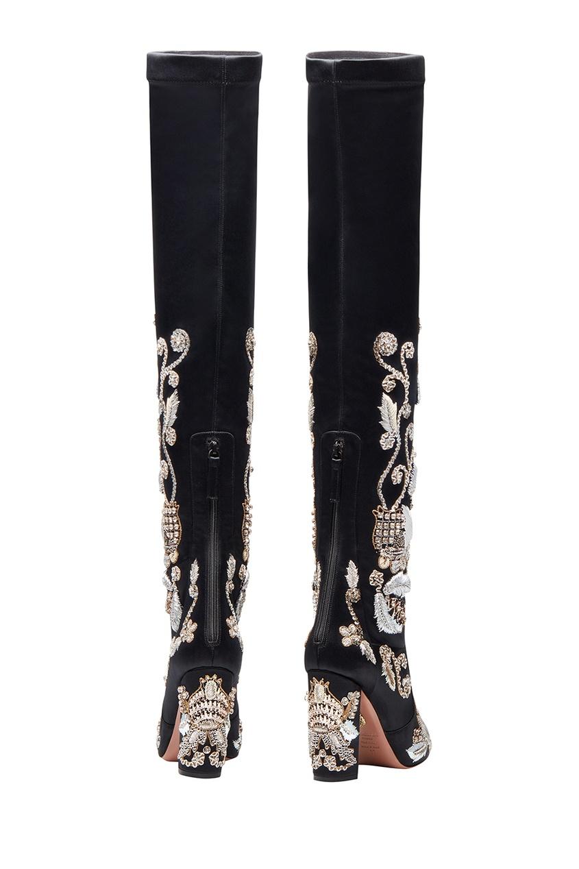 Ботфорты с вышивкой Poison Ivy Boot 105