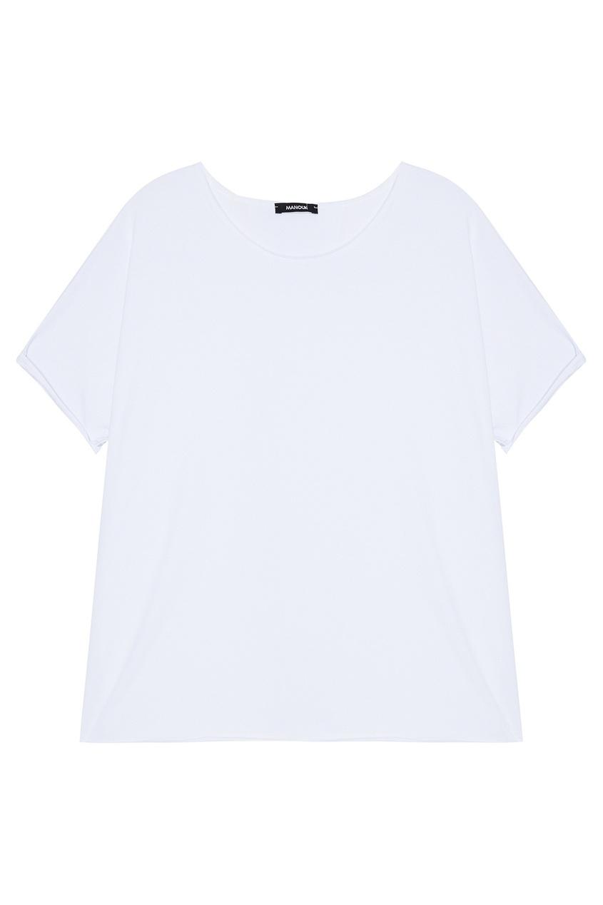 Manouk Белая футболка из хлопка футболка белая с принтом ido ут 00004169