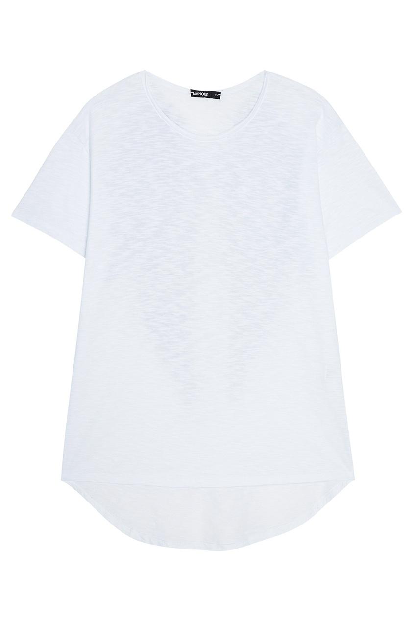Manouk Футболка с принтом на спине футболка из двух материалов с принтом