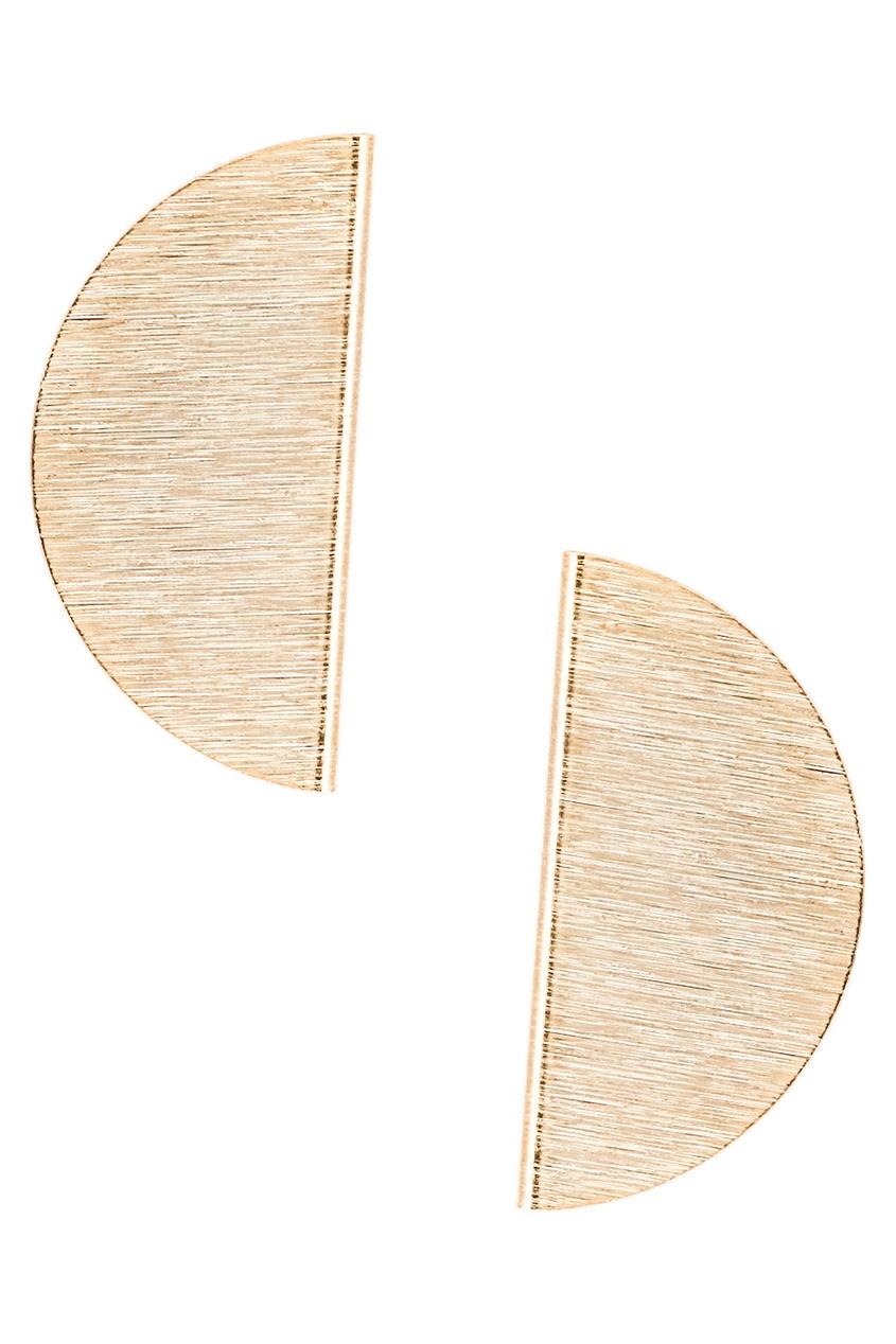 Золотистые серьги-полусферы