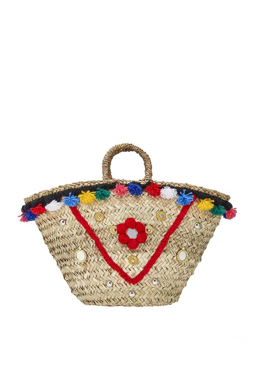 Micaela Spadoni Плетеная сумка-корзинка Sisily Medium