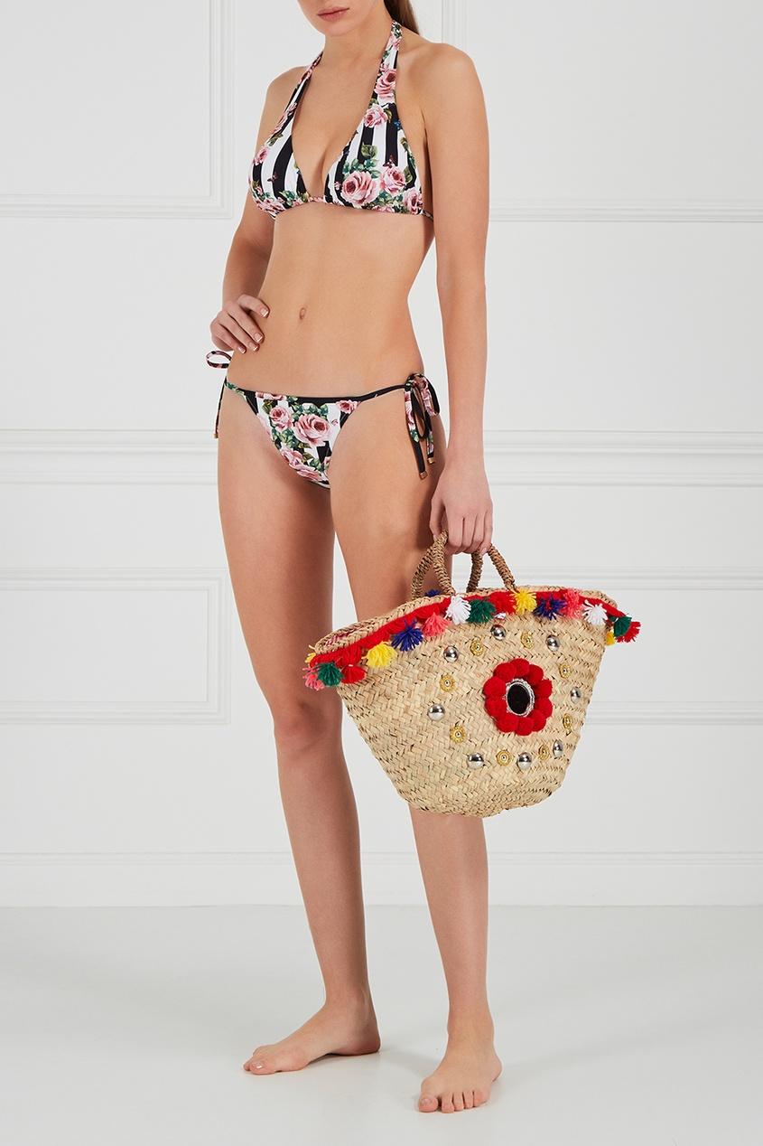 Плетеная сумка-корзинка Naca Medium