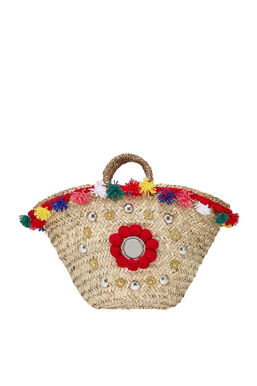 Micaela Spadoni Плетеная сумка-корзинка Naca Medium