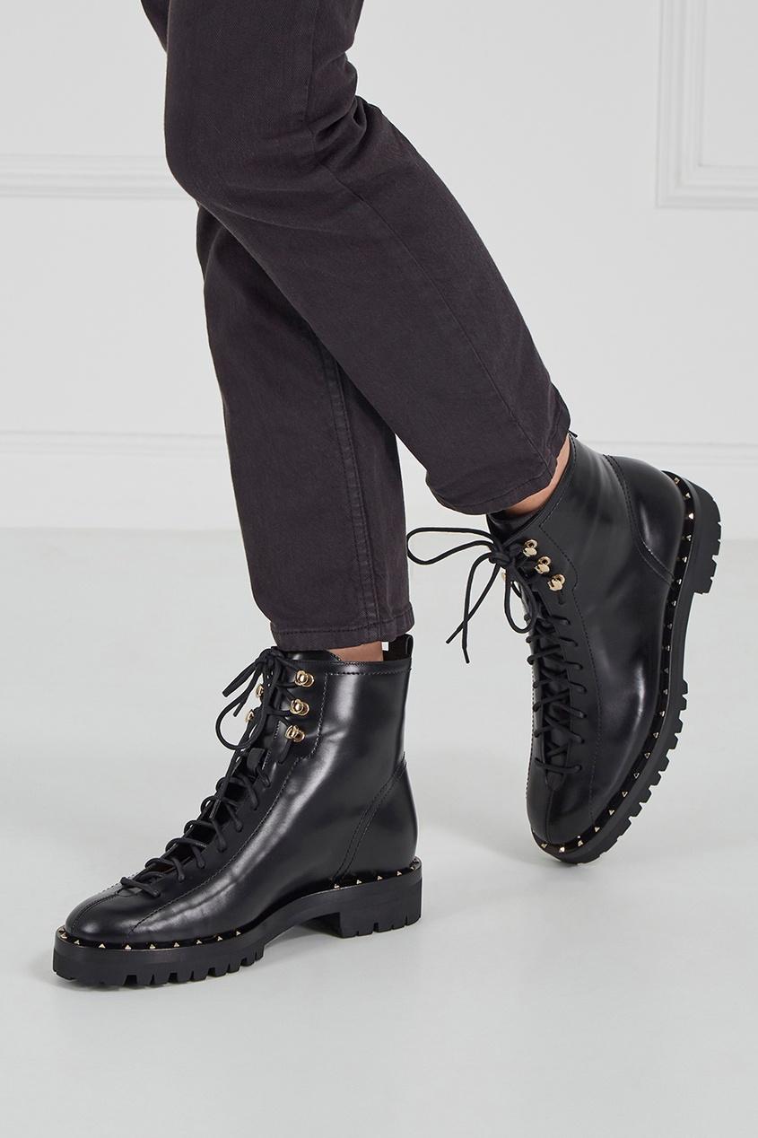 Valentino Кожаные ботинки с шипами бейсболки с шипами в запорожье