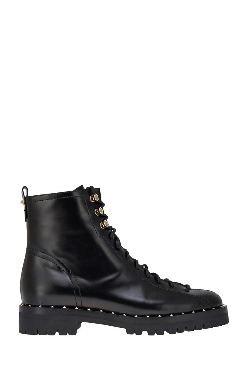 Valentino Кожаные ботинки с шипами ботинки кожаные с кисточками