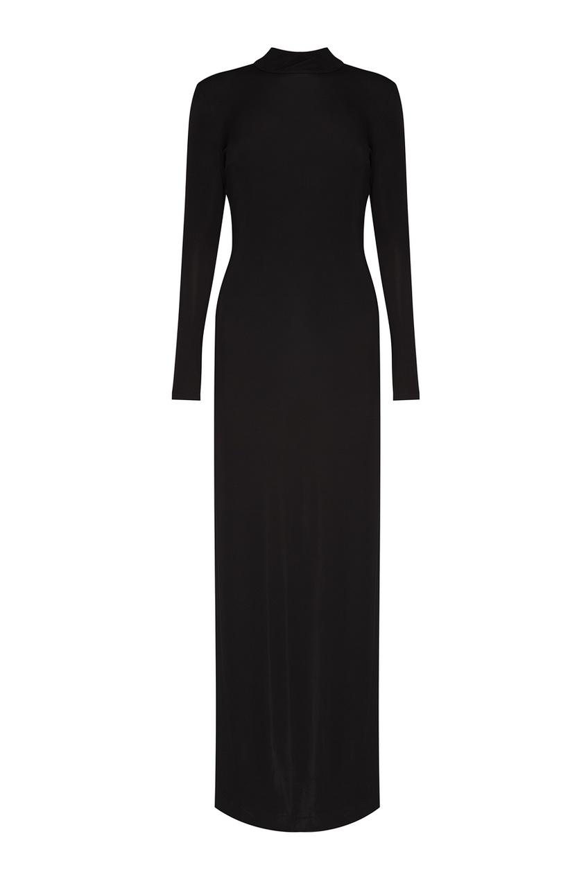 Alexander Terekhov Черное платье-макси элегантное черное платье где