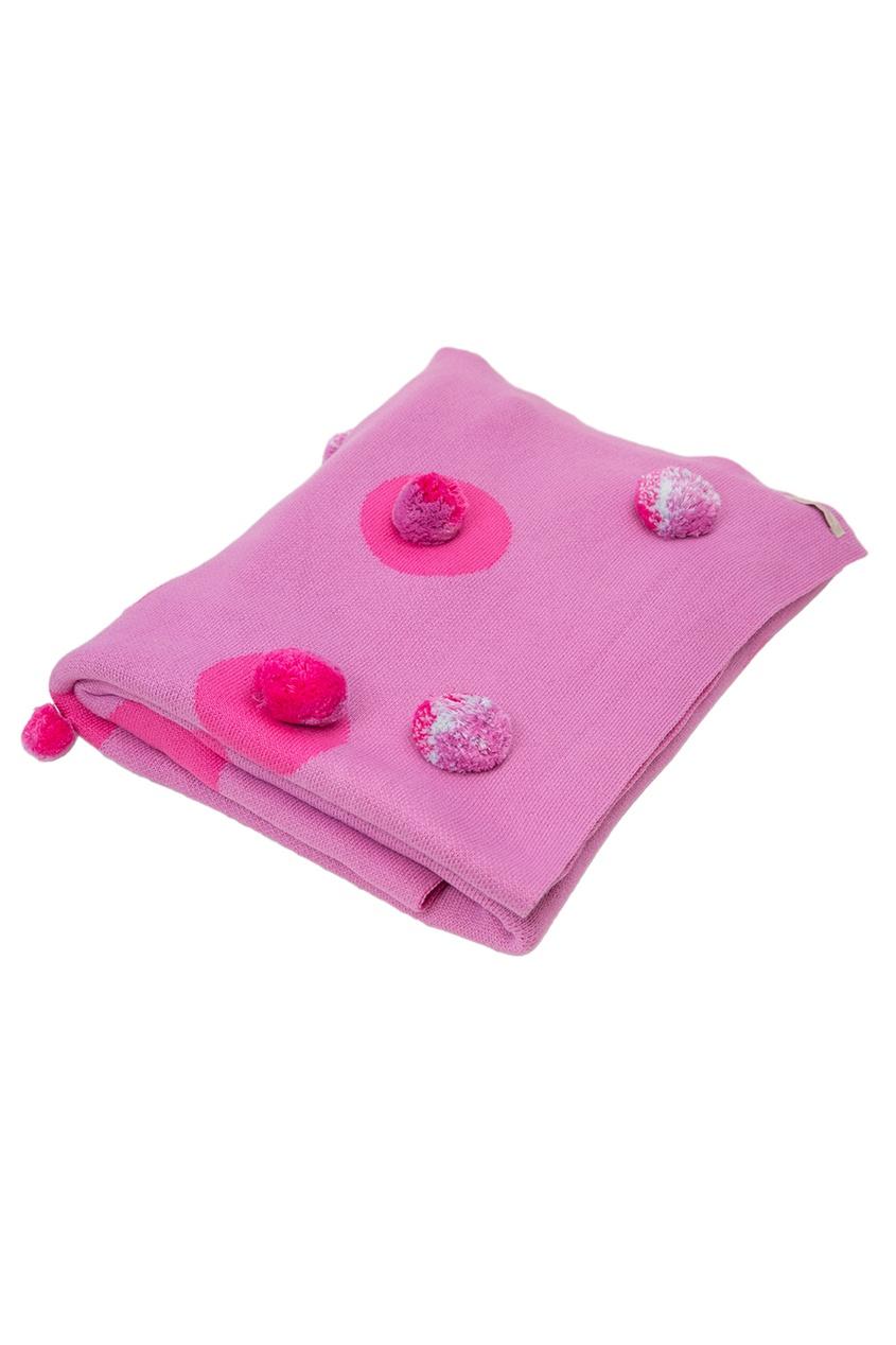 La Petite Joie Розовое покрывало с помпонами «Цирк» ботинки блестящие с помпонами 19 24