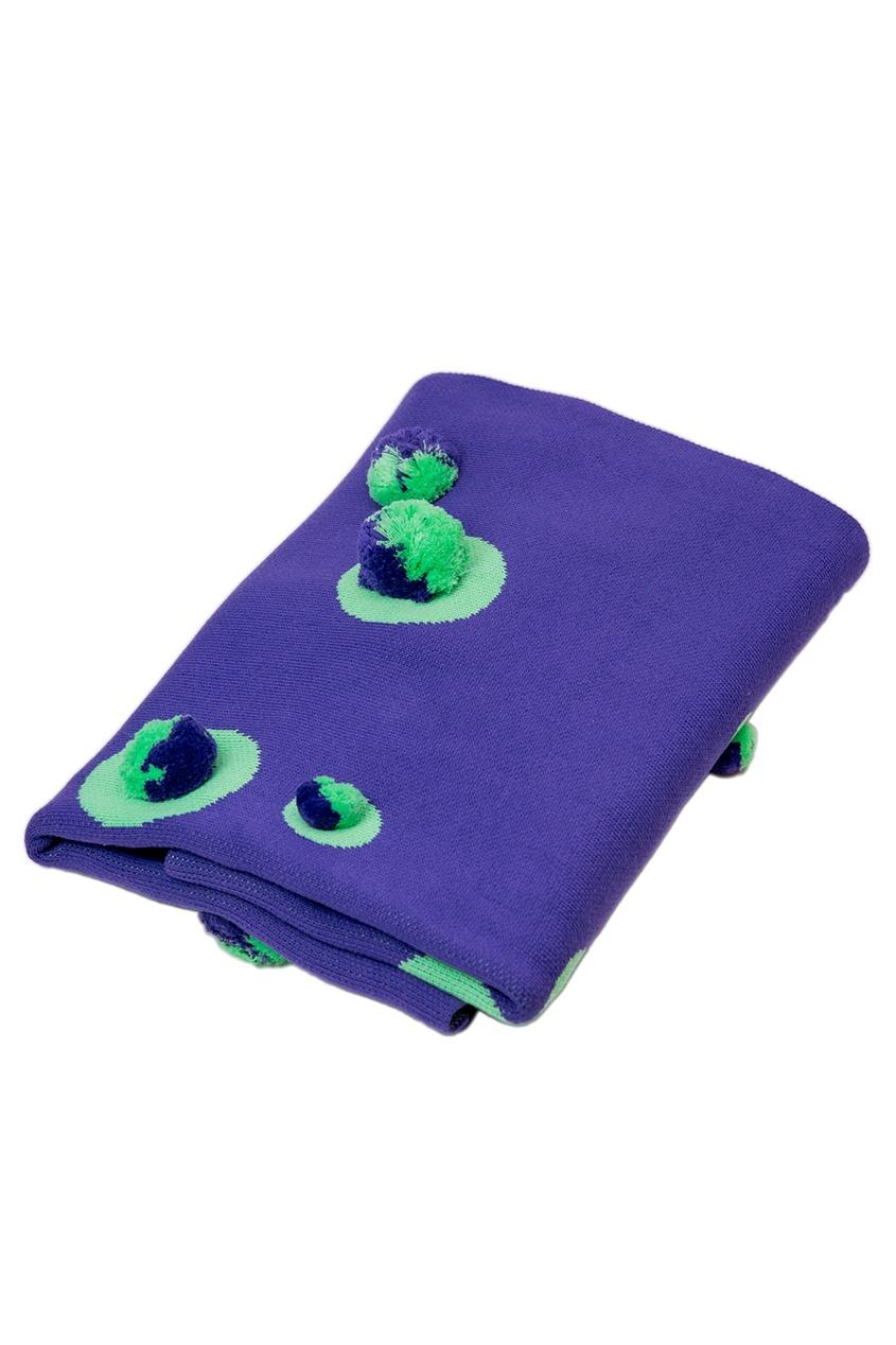 Фиолетовое покрывало с помпонами «Цирк» La Petite Joie