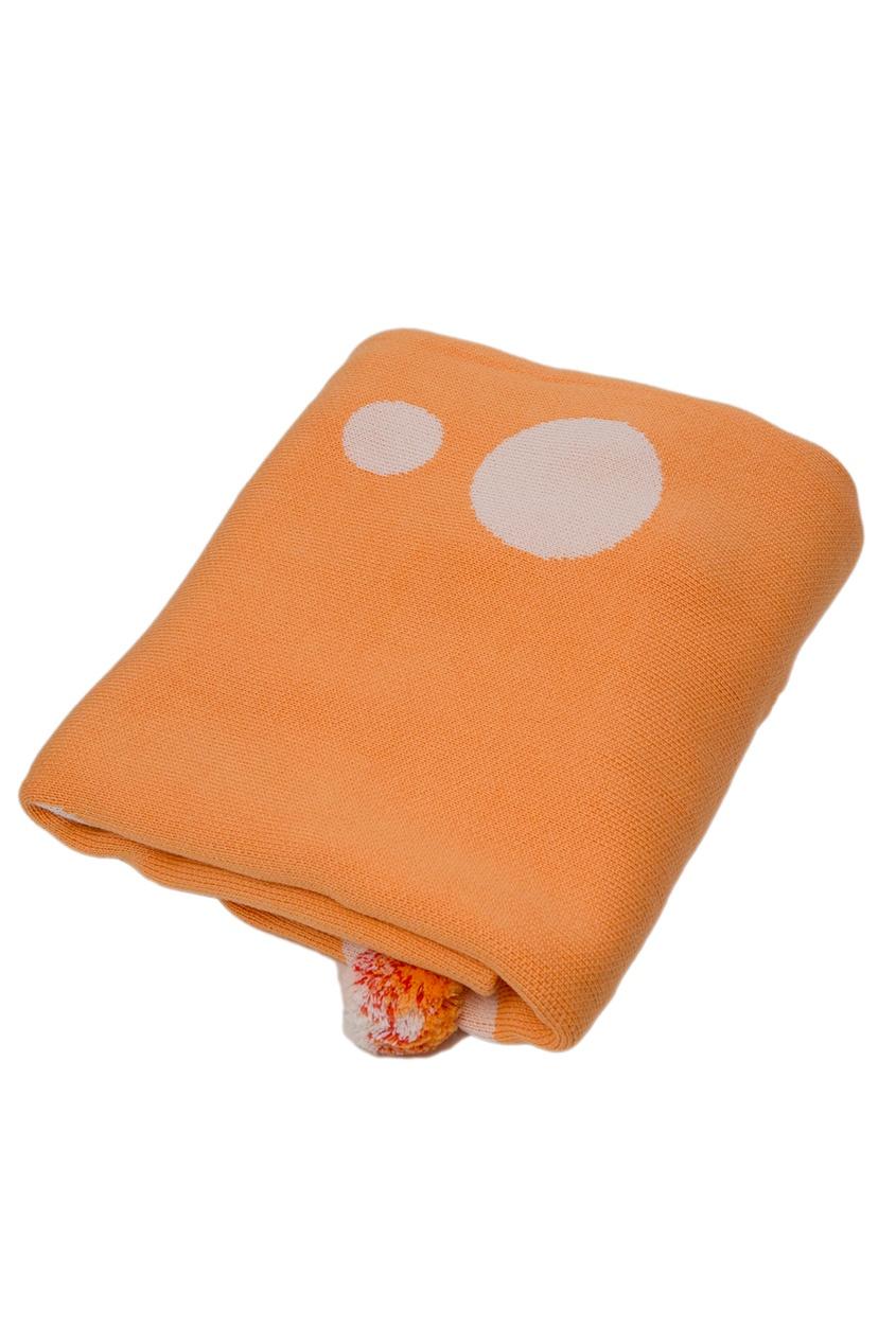 La Petite Joie Оранжевое покрывало с помпонами «Цирк» ботинки блестящие с помпонами 19 24