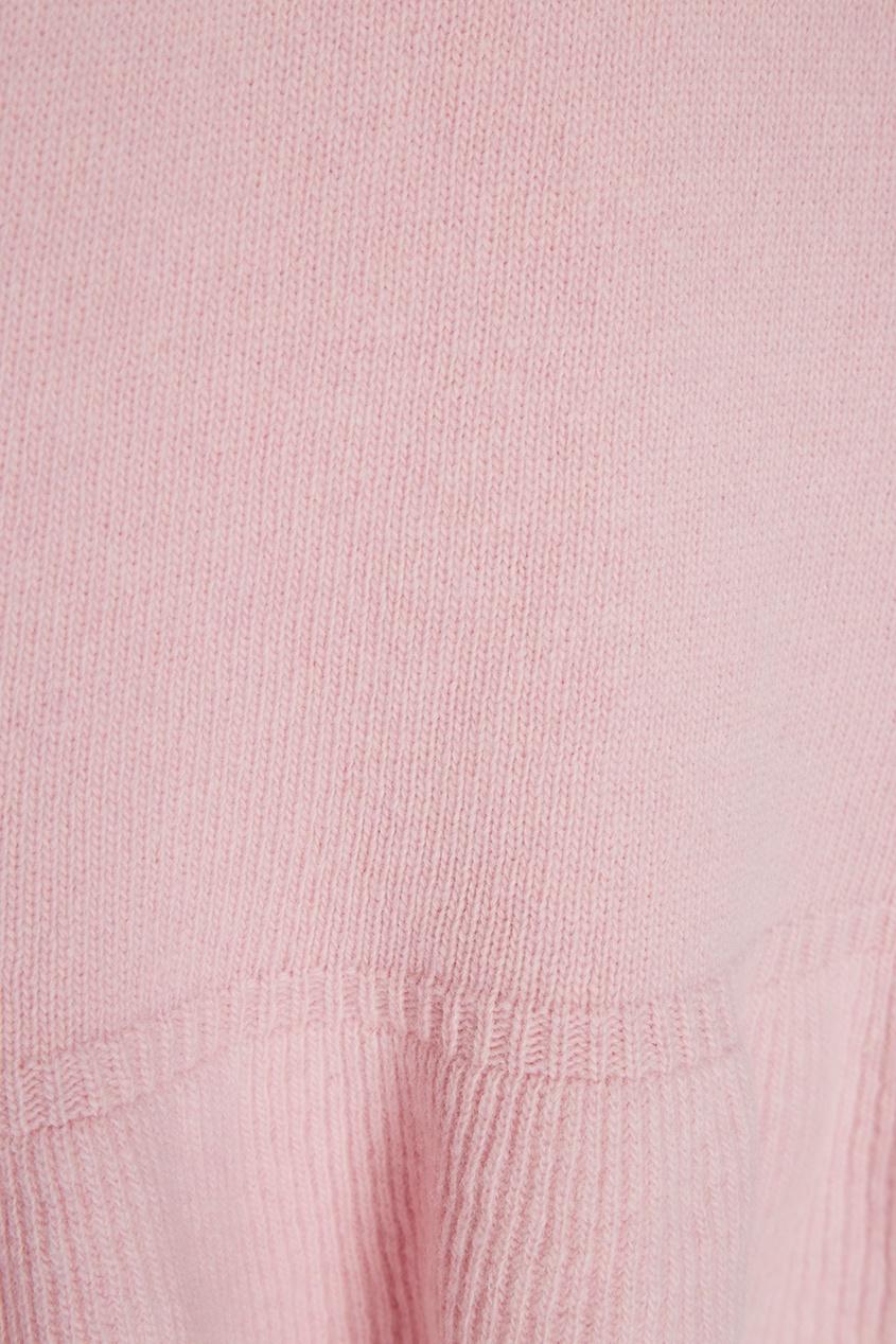 Bubbles Розовое вязаное платье spring bubbles с пупырышками