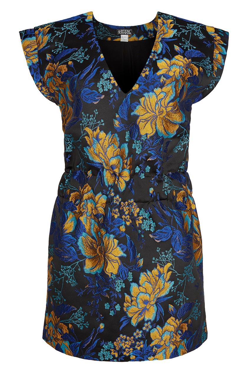 ARTEM KRIVDA Жаккардовое платье с цветами