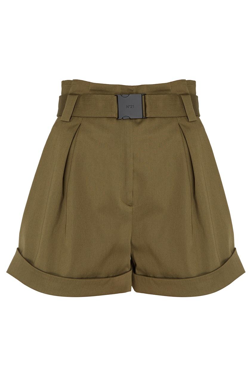 Хлопковые шорты с поясом