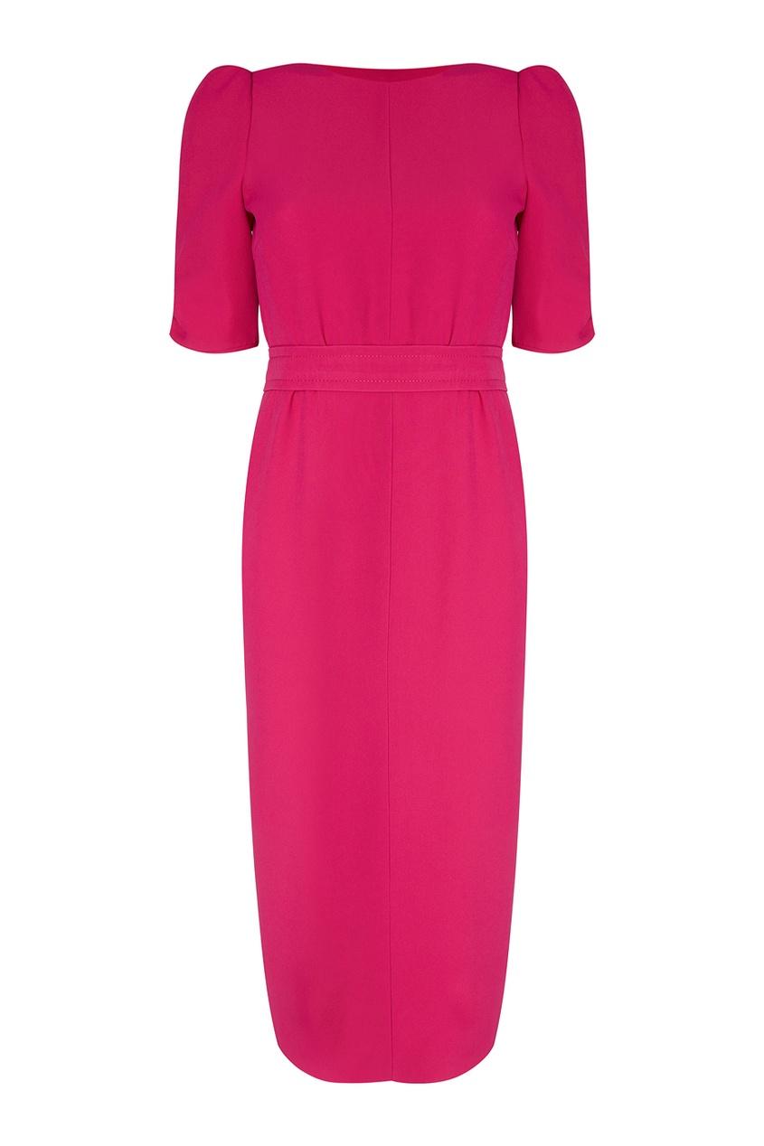 Розовое платье-футляр