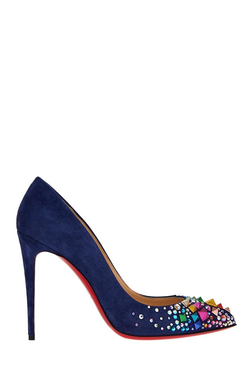 Синие замшевые туфли Keopump 100 от Christian Louboutin