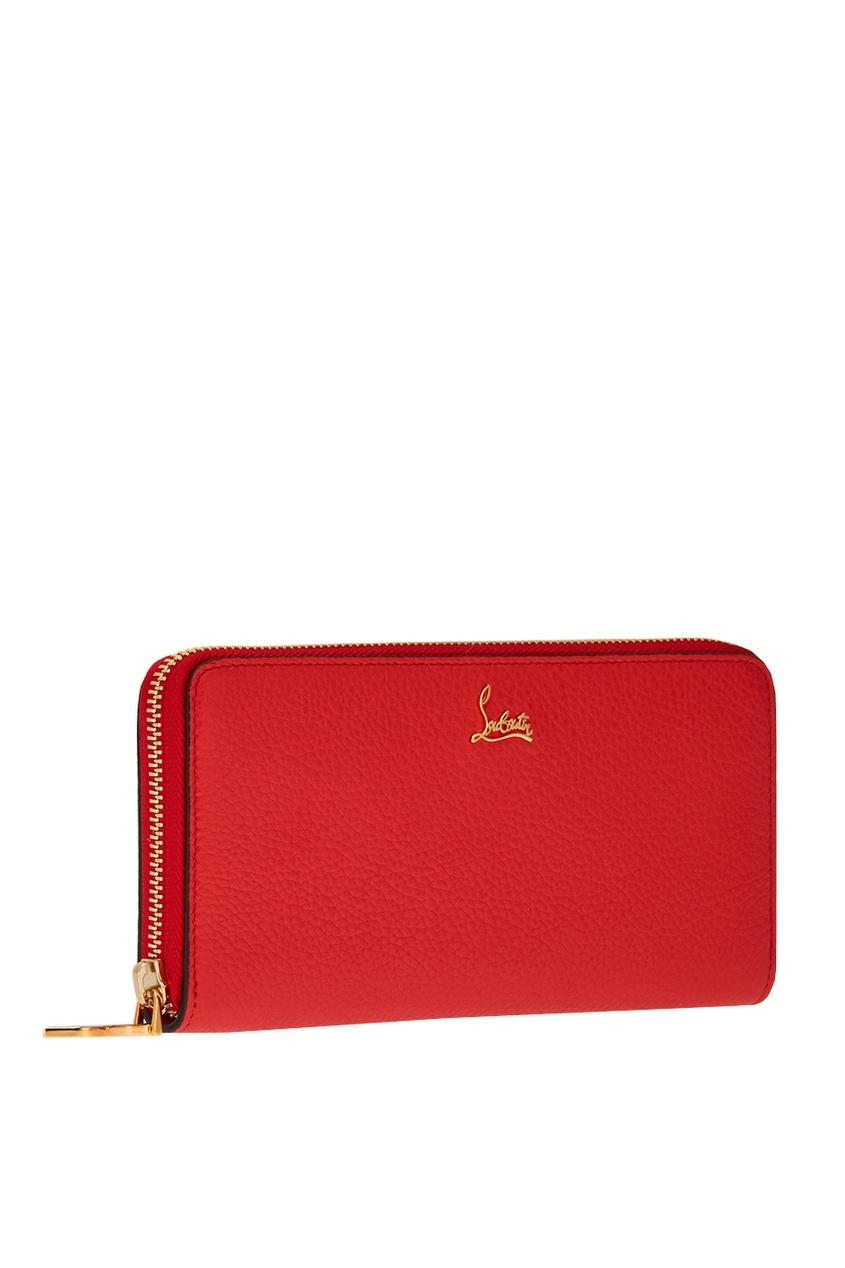 все цены на Christian Louboutin Красный кожаный кошелек W Panettone онлайн